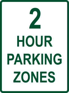 2 Hour Parking Zones